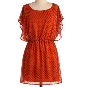 """""""Mod Cloth"""" My story orange dress... Sz S"""